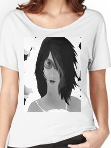 Sun Burn Black And White Women's Relaxed Fit T-Shirt