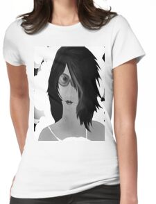Sun Burn Black And White Womens Fitted T-Shirt