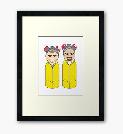 Breaking Bad Style Pegheads Framed Print