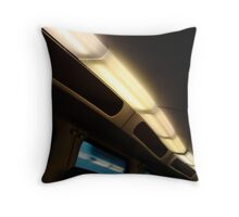 Lights in a dutch train Throw Pillow