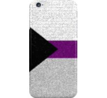 Demisexual Flag- Painted on a Wall iPhone Case/Skin
