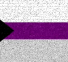 Demisexual Flag- Painted on a Wall Sticker