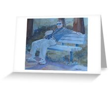 Tourist at Rest Greeting Card