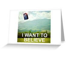 The Doctor is Out There Greeting Card