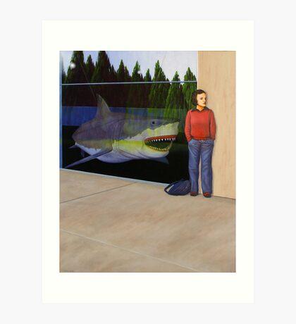 White Shark V (Window) Art Print