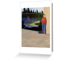 White Shark V (Window) Greeting Card