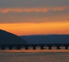 Rockville bridge, west of Harrisburg, pa by al holliday