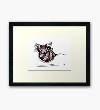 Little Profiles Bmail Addiction Framed Print