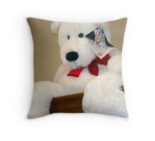Giant White Bear Throw Pillow