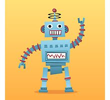 Cute and fun retro robot Photographic Print