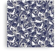 butterfly white Canvas Print