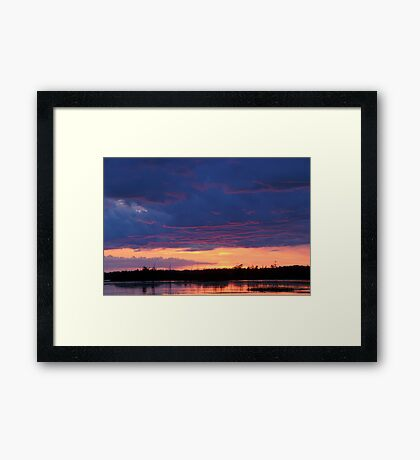 Just Another Michigan Sunset Framed Print