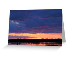 Just Another Michigan Sunset Greeting Card