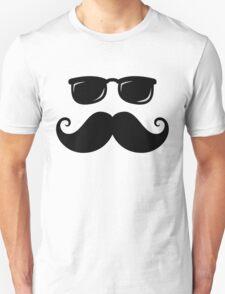 Mustache and sunshades Unisex T-Shirt