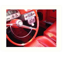 The Red Corvair at the Fall Fair  Art Print