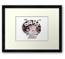 Little Profiles Unladylike Ladybird Framed Print