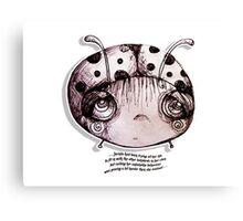 Little Profiles Unladylike Ladybird Canvas Print