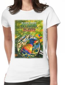 SAVE OUR BEAUTIFUL PLANET Womens Fitted T-Shirt