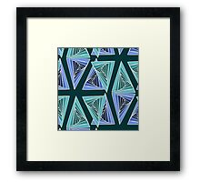 Abstract triangle pattern Framed Print