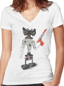 ControlBot4000 Women's Fitted V-Neck T-Shirt