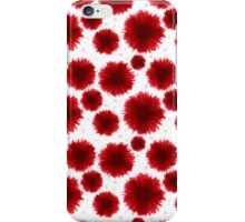 Red flowers pastel iPhone Case/Skin