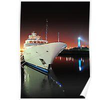 Long Beach Marina at Night Poster