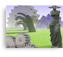 Aphrodite in field of gears Canvas Print