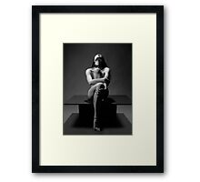 """My Collar"" a Nude by Chris Maher #7457 Framed Print"