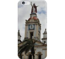 Palm Tree Next to a Church iPhone Case/Skin