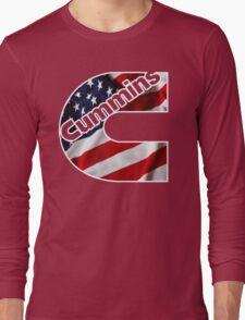 Cummins US Flag  Long Sleeve T-Shirt