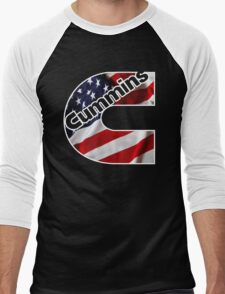Cummins US Flag  Men's Baseball ¾ T-Shirt