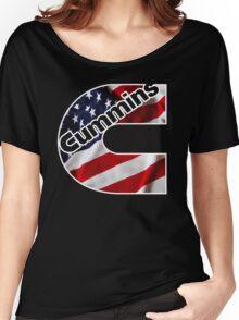 Cummins US Flag  Women's Relaxed Fit T-Shirt