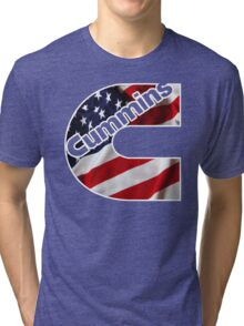 Cummins US Flag  Tri-blend T-Shirt