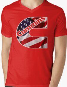 Cummins US Flag  Mens V-Neck T-Shirt