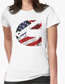 Cummins US Flag  Womens Fitted T-Shirt