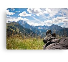 Relaxing in the mountains Canvas Print