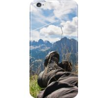 Relaxing in the mountains iPhone Case/Skin