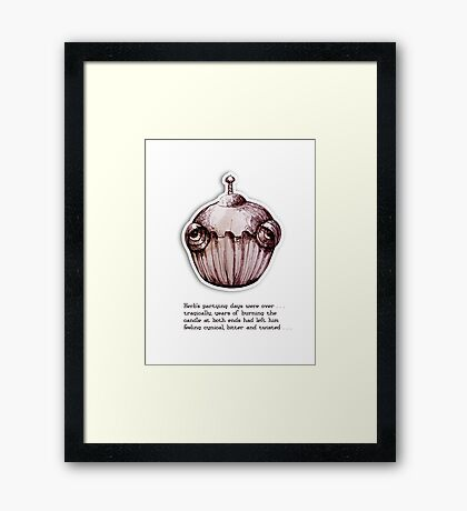 Little Profiles Cynical Cupcake Framed Print