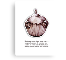 Little Profiles Cynical Cupcake Canvas Print