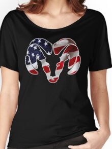 Dodge Ram US Flag Women's Relaxed Fit T-Shirt