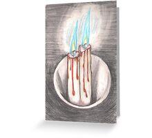 Burning Blue Greeting Card