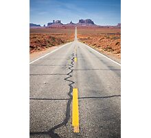 Open Road in the Monument Valley Photographic Print