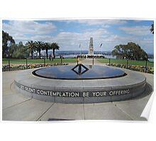 War Memorial Kings Park, Perth, WA Poster
