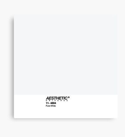 AESTHETIC UNIVERSE PURE WHITE DESIGN Canvas Print