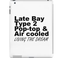 Late Bay Pop Type 2 Pop Top Black LTD iPad Case/Skin