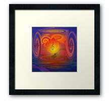 Let The Music Play- Art + Products Design  Framed Print