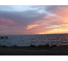 Port Julia sunset over water Photographic Print