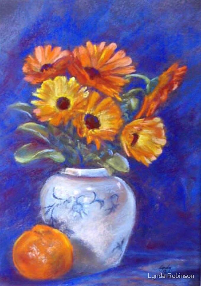 Marigolds & Mandarin (Adgray & Hidemi made me do it)!! by Lynda Robinson