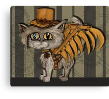 Mr. Tipps, steampunk kitty cat fairy Canvas Print