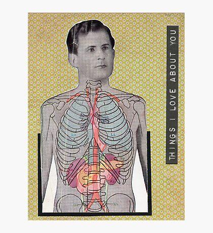 Vintage Anatomy Love Photographic Print